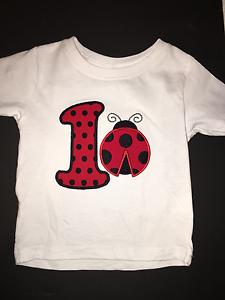LadyBug Birthday Shirt 1st 3rd 2nd 5th Personalized Keepsake CUTE 4th