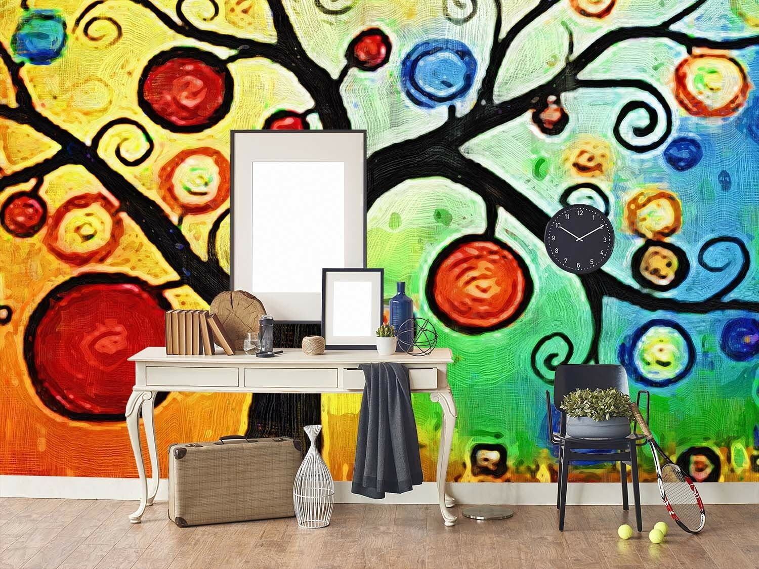 3D Painted Fruit Trees Paper Wall Print Wall Decal Wall Deco Indoor Murals