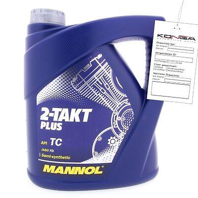 4 Liter MANNOL 2-Takt Plus API TC Motoröl Motorradöl