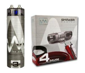 s l300 vm audio srpk4r 4 gauge ga car amplifier amp wiring kit 3 farad