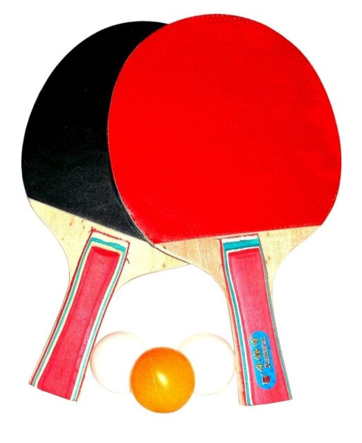 Table Tennis Racket Set 3 Balls and 2 Racquets for | eBay