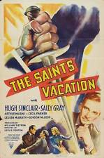 THE SAINT'S VACATION Movie POSTER 27x40 Hugh Sinclair Sally Gray Cecil Parker