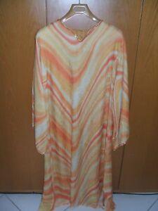 Arancio Colore Egiziano Lungo Tg 48 Fodera Vestito Con w6qS1xBPqv