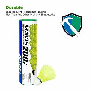 Yonex Mavis 200 Badminton Shuttles Tube of 6 Shuttlecocks