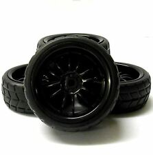 A250041BK 1/10 On Road Soft V Tread Car RC Wheels and Tyres 12 Spoke Black x 4