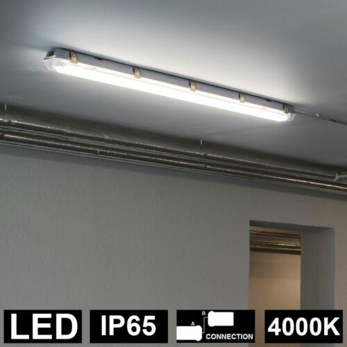 LED Decken Strahler Wannen Leuchte Feucht Nass Raum Lager 4000K Hallen Lampe