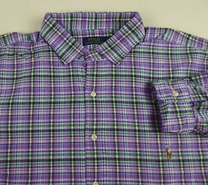 NWT Ralph Lauren Mens LS Classic Gingham Luxury Estate Oxford Shirt Small $125