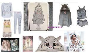 Primark Disney in Pile Morbido Thumper Coniglio Bambi Pigiama Set Con  Cappuccio Poncho LANCIA   eBay