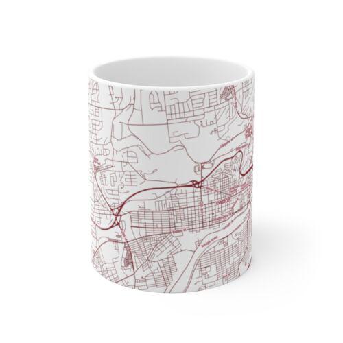 PA Lafayette College Colored Map Mug. Easton
