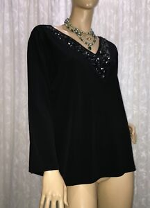 LS-COLLECTION-BY-LOVELY-SPIRIT-AUSTRALIA-SIZE-L2-18-AU-BLACK-BEADED-TOP