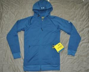 2eb7b7a8 Details about Under Armour Mens Armour Fleece Storm Embossed Hoodie Small  Blue 1238268 437 NWT
