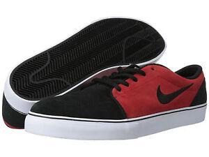 Nike Satire Skate Men's Black suede Skate Shoes 536404 010