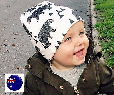 Baby Boy Girl Kids Children Soft Cotton bird bear Beanie Ski Hat Cap 0-3years