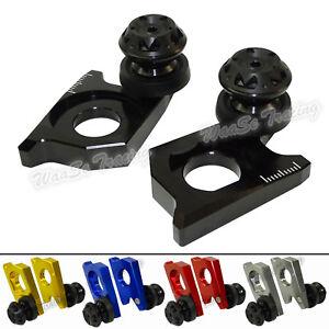 CNC Rear Wheel Axle Blocks Red For SUZUKI GSXR 600 750 06-10 GSXR1000 05-08 US
