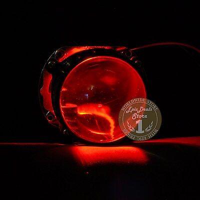 RED LED Demon Eye / Devil Eye for Car Headlight Projector Lens Retrofit, 2 PCS