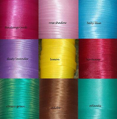 3-6m Satin Schrägband Einfassband Satinband 15 mm Falzband Polyester ab 0,62€//m
