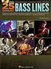 25 Great Bass Lines: Transcriptions, Lessons, Bios, Photos by Glenn Letsch (Mixed media product)