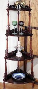 Shelf-Columns-Corner-Wardrobe-Cabinet-Showcase-Barock-Empire-Biedermeier-Antique