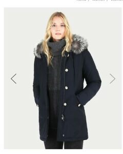 new concept c3cf2 7cc58 Details about Womens S Woolrich Fur Trim Luxury Arctic Parka