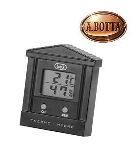 Termometro-Digitale-con-Igrometro-Trevi-TE-3002-Nero-Temperatura-Min-e-Max