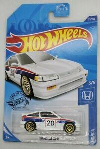 Details about  /Hot Wheels 2020 Honda Series #123 /'88 Honda CR-X White w// Gold WSPs