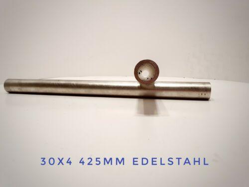 Edelstahlrohr nahtlos 30x4 425mm