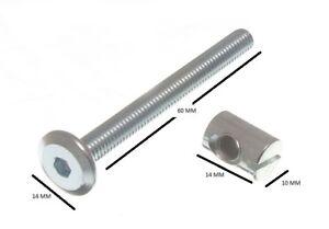 Furniture-Cot-Bed-Bolt-Allen-Head-Barrel-Nut-6mm-M6-X-60mm-10-bolts-10-nuts