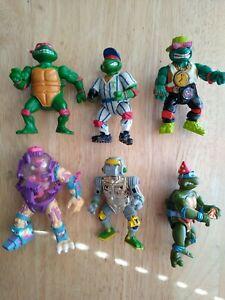 Lot of 4 TMNT Mini Figures Teenage Mutant Ninja Turtles Playmates 2019