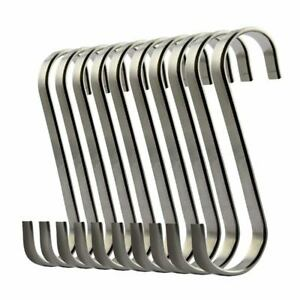 Set-of-10-S-Stainless-Steel-Suspension-Hooks-for-Kitchen-Cookware-or-Butche-V5B6