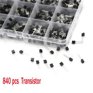 840x-24-types-Kit-de-Composants-de-Transistors-de-Puissance-avec-Boite-NPN-PNP