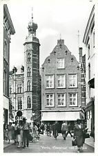 Venlo Netherland Real Photo Postcard Town Hall animated street clock tower