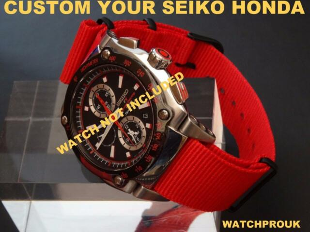 QUALITY NYLON STRAP TO FIT SEIKO SPORTURA HONDA MANY COLOR SELECTION RED ORANGE