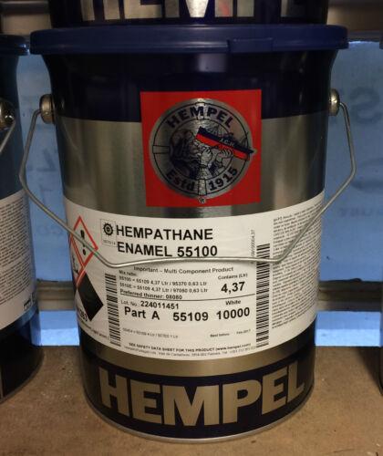 Hempel HEMPATHANE ENAMEL GLOSS WHITE 5 Ltr BOAT AND YACHT PAINT COATING 2-PART