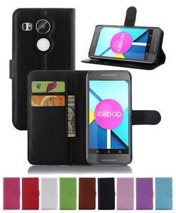 Wallet-Leather-Flip-Case-Pouch-Cover-For-LG-Google-Nexus-5X-Genuine-AuSeller