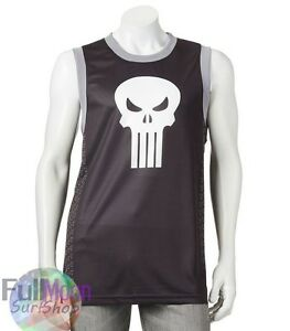 ff3bc3e2 Image is loading New-Marvel-Punisher-Sleeveless-Shirt-Tank-Jersey