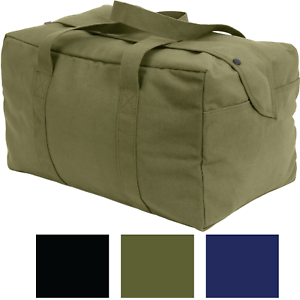 Canvas-Small-Cargo-Bag-Mini-Parachute-Hand-Carry-Duffle-Military-Tactical-Tote
