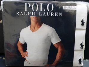 edc66eb0 M XL,2XL L Polo Ralph Lauren Classic Fit 3 Pack Cotton V Neck T-Shirt ...