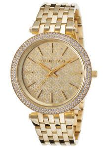 NEW-Michael-Kors-Women-039-s-Darci-Gold-Tone-Stainless-Steel-Bracelet-Watch-MK3398