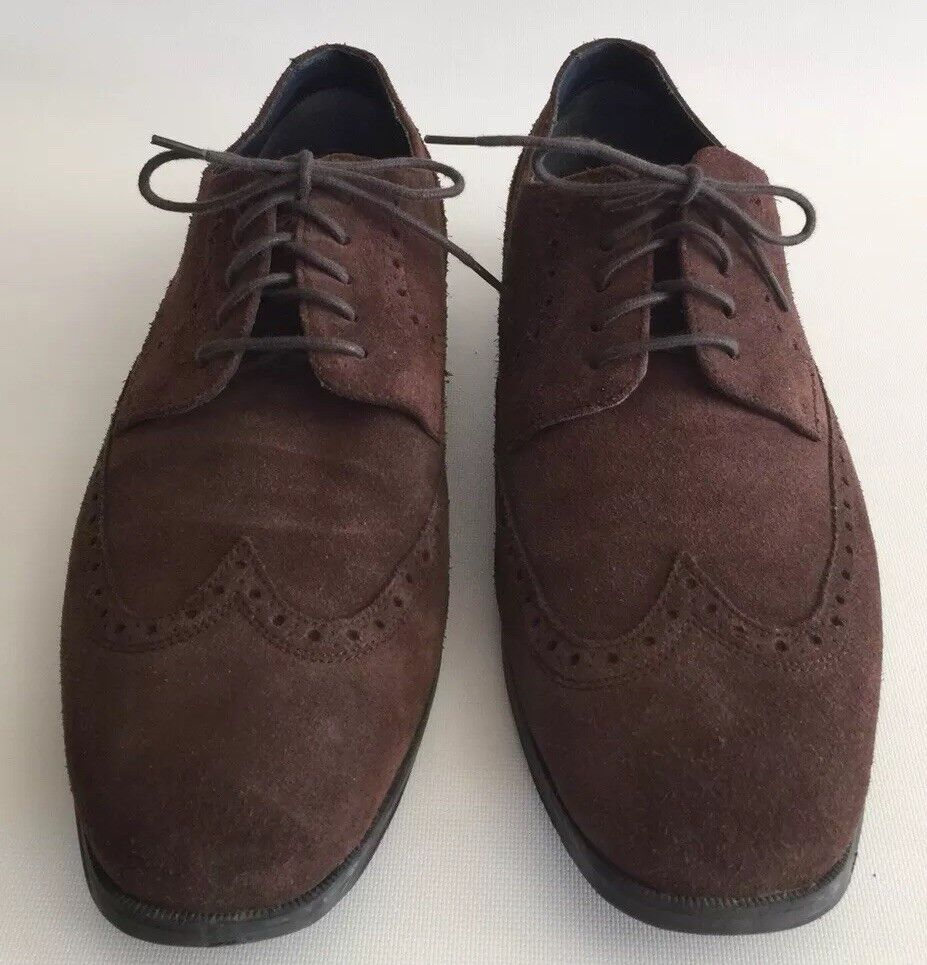 Cole Haan Grand OS Brown Suede Wingtip shoes Sz 10.1 2 W