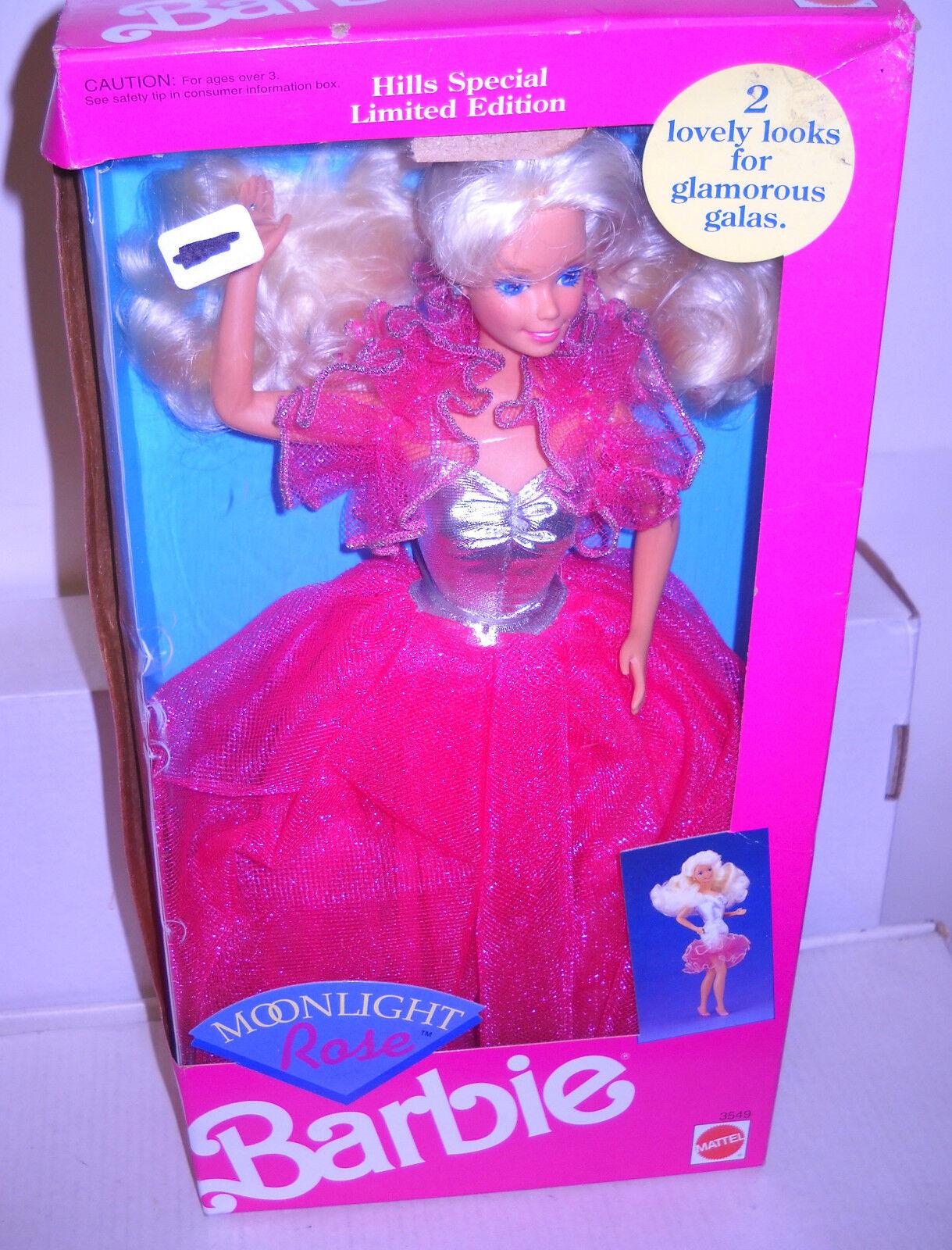 Nunca quitado de la Caja Mattel Muñeca Barbie colinas Moonlight rosado Edición Limitada