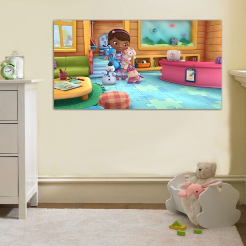 Doc Mcstuffins PRINT ON CANVAS Home Wall Decor Art Movie Kids Huge 4 Sizes