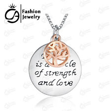 Tree of life Necklace Family is a Circle of Strength Charm Pendant Necklace
