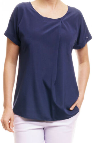 Oberteil Seidenblusenshirt Claris blau T-Shirt van Laack Shirt