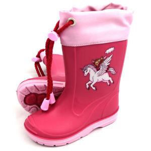 new styles 5629f 55312 Details zu BECK EINHORN 498 * pink * Gummistiefel Regenstiefel Mädchen  Unicorn * Gr. 21-32