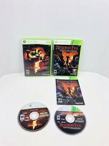 Resident-Evil-5-Operation-Raccoon-City-Microsoft-Xbox-360-Video-Game-Lot-Of-2