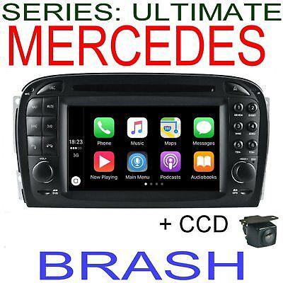 MERCEDES SL CLASS R230 2002-04 GPS NAV DVD APPLE CAR PLAY ...