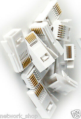 Pack of 50 x BT Telephone Plugs 6 Pin 631A Crimp Ends
