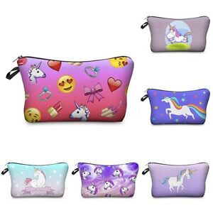 Image Is Loading Unicorn Pencil Bag Girls Cosmetic Case Makeup Pouch