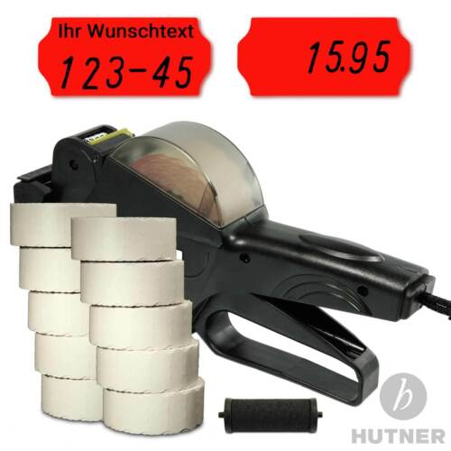 10 Rollen Etiketten 26x12 WR 1 Farbrolle SET Smart 6 Preisauszeichner inkl