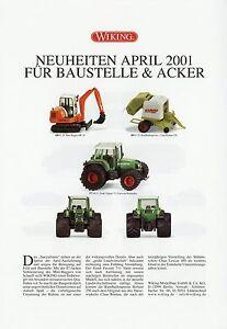 0002wik Wiking Nouveautés Prospectus 2001 4/01 Detaillant Automobile Modèle Voitures Model Cars Belle Apparence